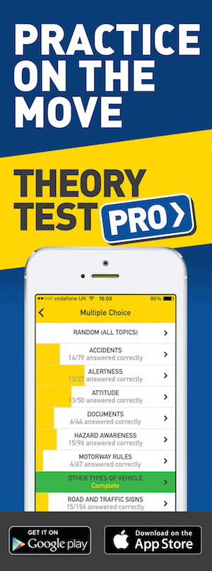 Theory Test Pro in partnership with 1st Pass Driving School